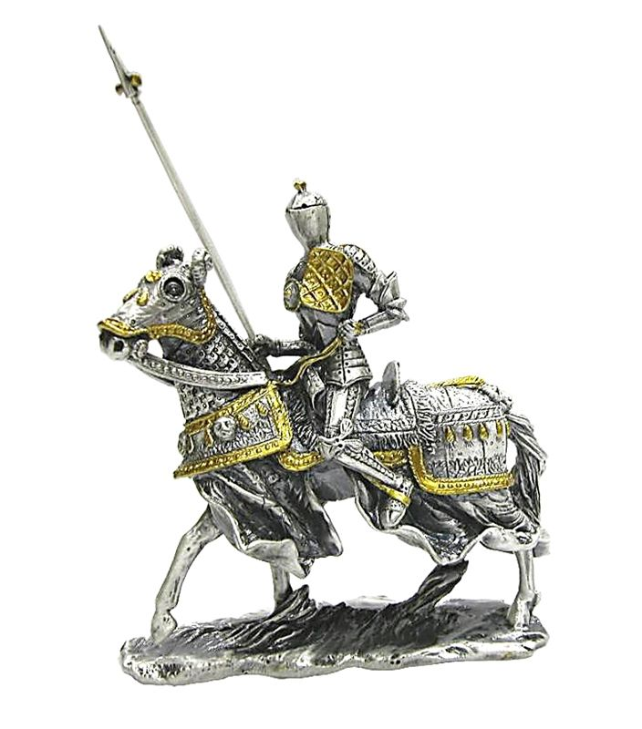 16th Century Medieval Mounted Tournament Knight With Lance