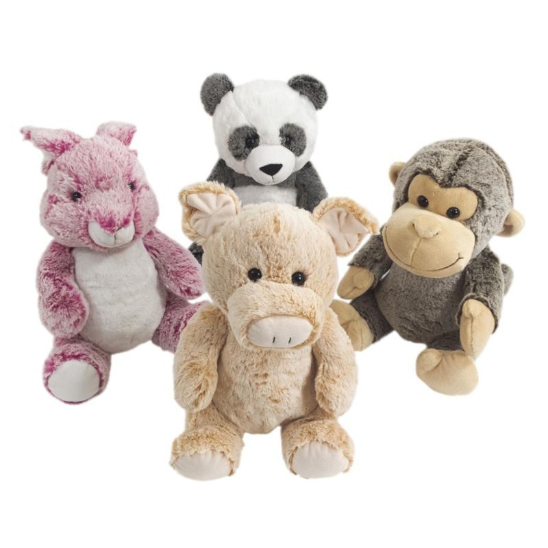 26 cm Supersoft Plush Animal Soft Toy - Rabbit | Pig | Monkey | Panda