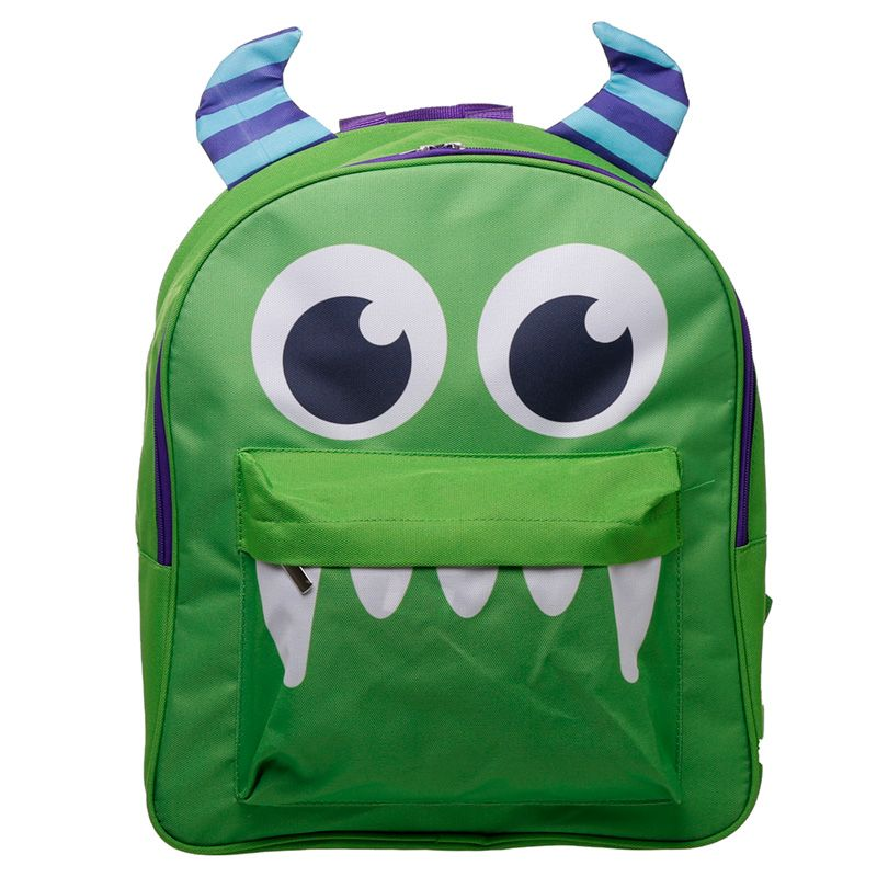 Children's Fun & Colourful Polyester Backpack - Monster