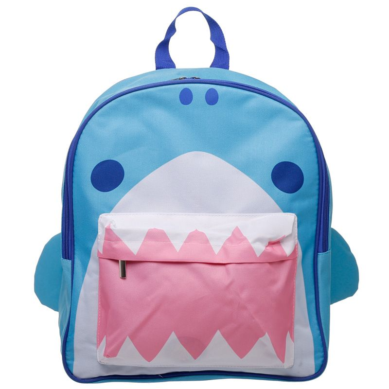 Children's Fun & Colourful Polyester Backpack - Shark