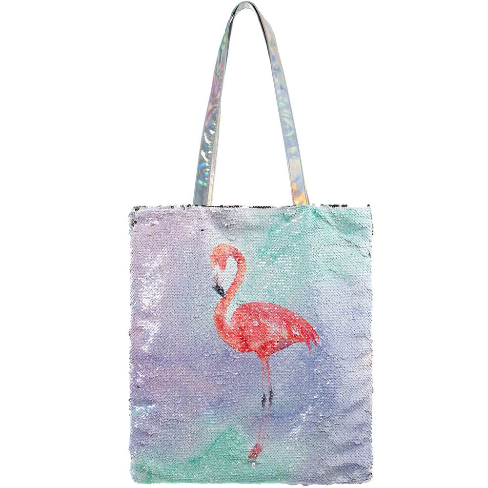 Large Magic Sequin Flamingo  Shopper Bag