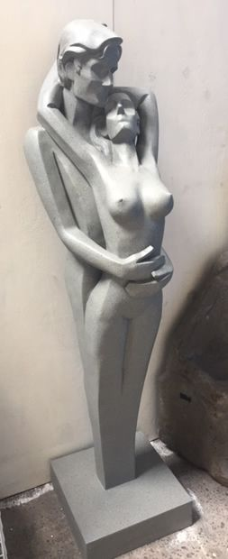 LOVERS Contemporary Nude Man & Woman Garden Patio Statue 1.7m