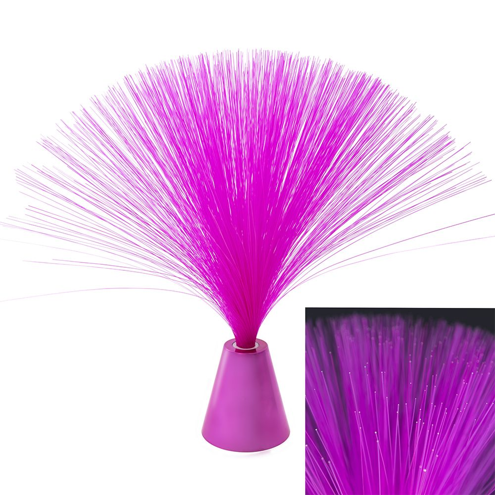 Pink Fibre Optic Colour Changing Spray Tabletop Light