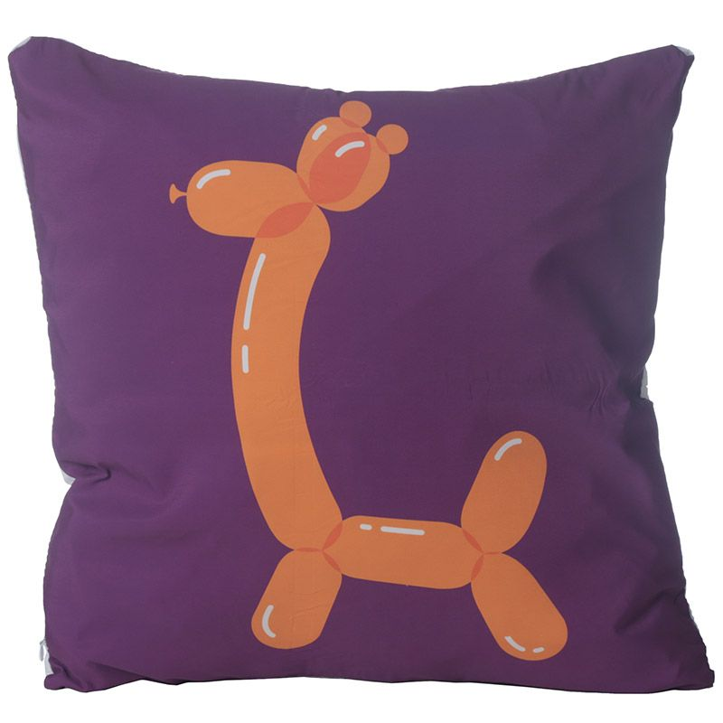 Purple Balloon Animal Cushion GIRAFFE Girls Boys Fun Cushion 48CM Square