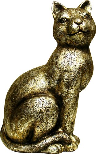 Rustic Ceramic Cat Large Home or Garden Ornament