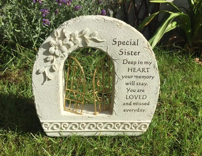 Special Sister ~ Gates To Heaven Graveside Memorial Ornament