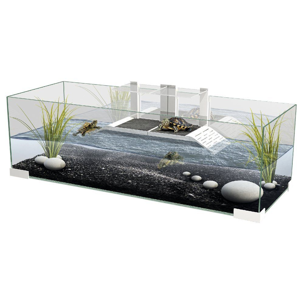 Tartarium 80 Turtle Terrapin Reptile Glass Tank with 2 x Ramp